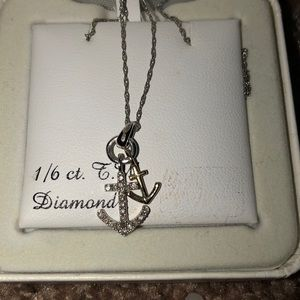 Jewelry - Anchor necklace 1/6 ct t.w diamond necklace